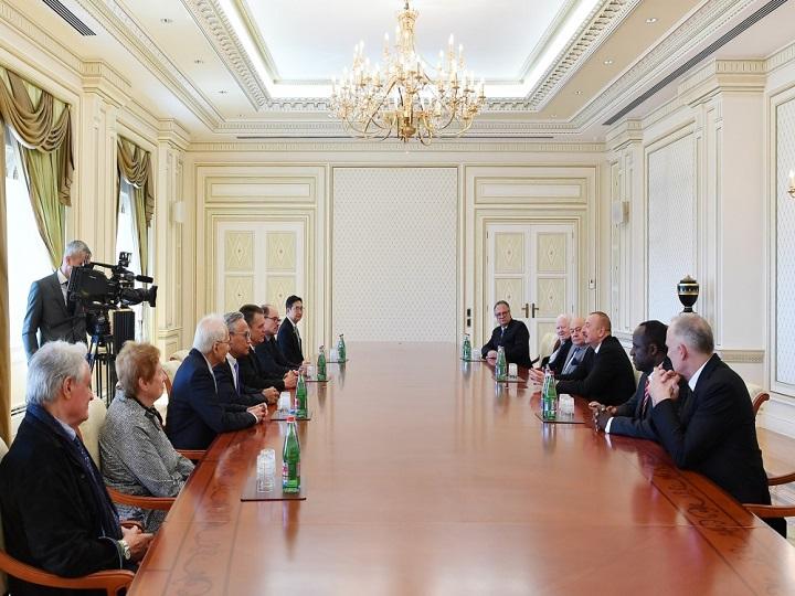 Prezident İlham Əliyev Beynəlxalq Memarlar İttifaqının nümayəndə heyətini qəbul edib
