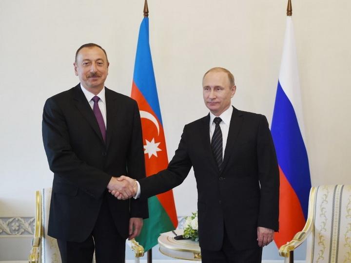 Ильхам Алиев поздравил Владимира Путина с Днем России