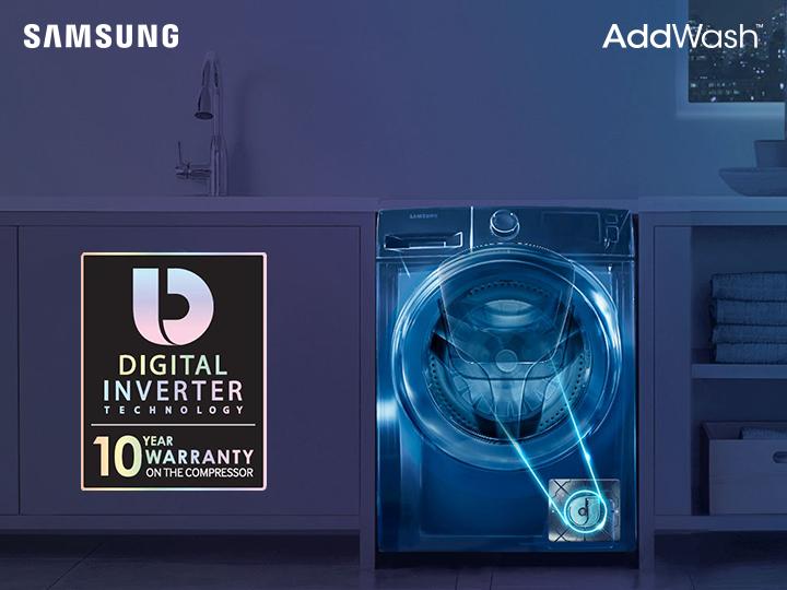 Digital İnverter texnologiyalı Samsung Add Wash ilə qənaətli yuma, qüsursuz nəticə