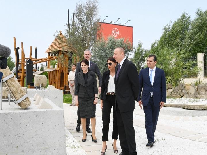 """Prezident İlham Əliyev """"Yanardağ"""" qoruğunun açılışında iştirak edib - FOTO - YENİLƏNİB"""