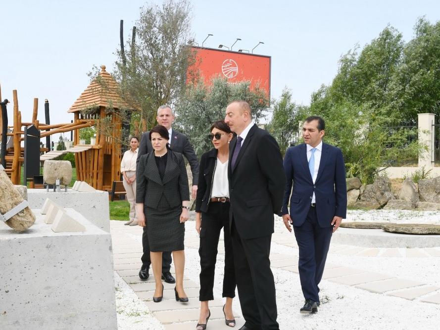 Президент Ильхам Алиев принял участие в открытии заповедника «Янардаг» - ФОТО