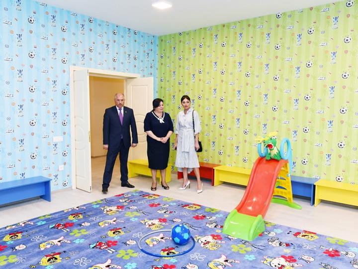 Мехрибан Алиева приняла участие в открытии нового здания яслей-детского сада №11 в Баку - ФОТО
