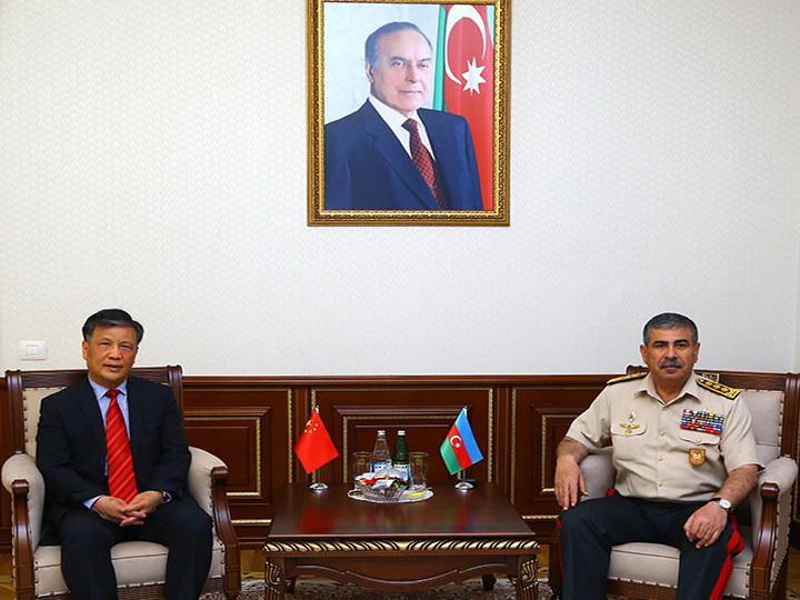 Минобороны Азербайджана встретился с послом Китая