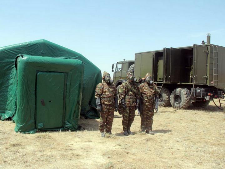 С подразделениями Войск химической защиты проведены тактико-специальные учения - ФОТО - ВИДЕО