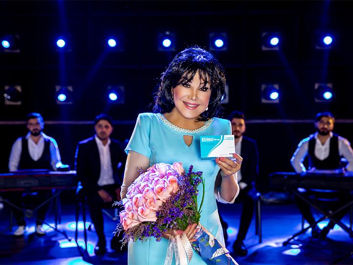 Известная эстрадная певица Флора Керимова снялась в рекламном ролике «Эфридола» - ФОТО - ВИДЕО