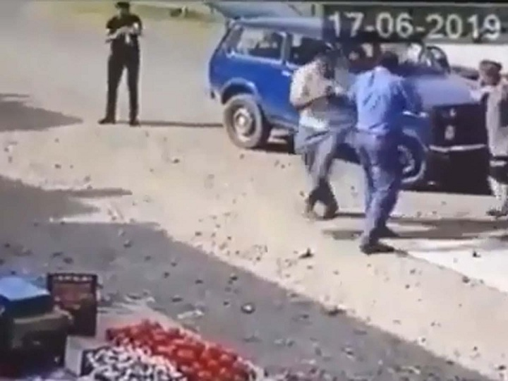 Ağstafa bazarındakı gülləbaranın görüntüləri - VİDEO