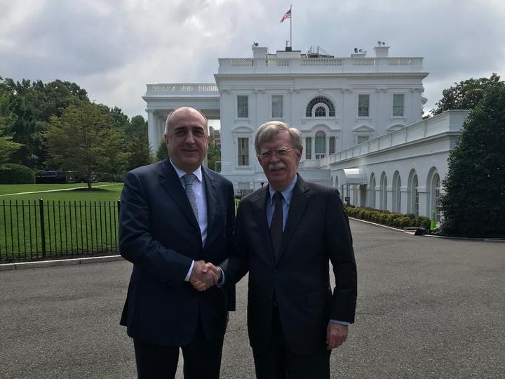 Azərbaycanın xarici işlər naziri Con Boltonla görüşüb