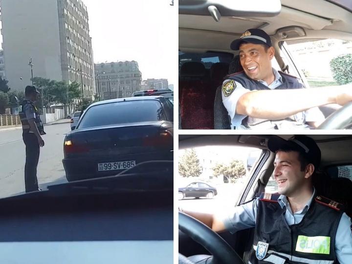 Как Дорожная полиция Баку помогает водителям - ВИДЕО