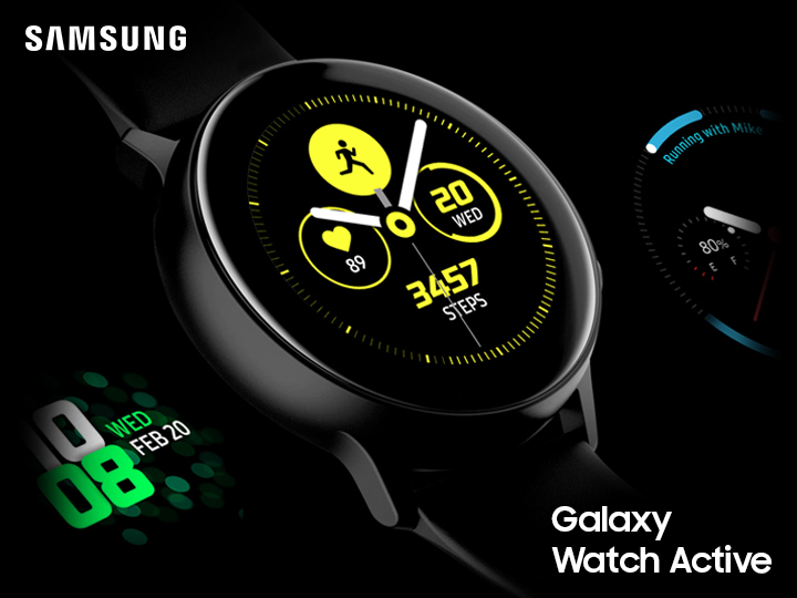 Galaxy Watch Active – incə dizaynlı yığcam smart saat