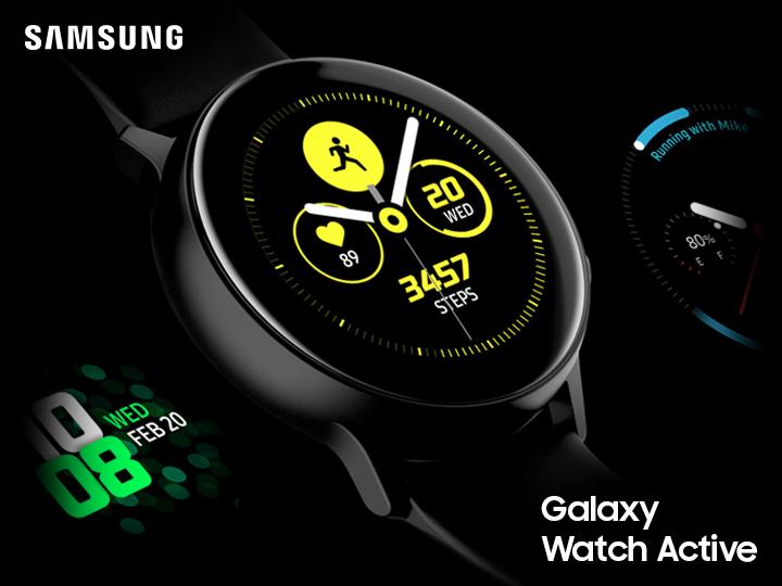 Galaxy Watch Active – компактные смарт часы с изящным дизайном
