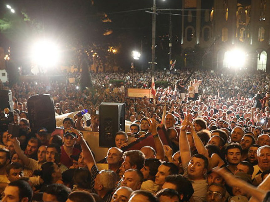 Tbilisidə etiraz aksiyası