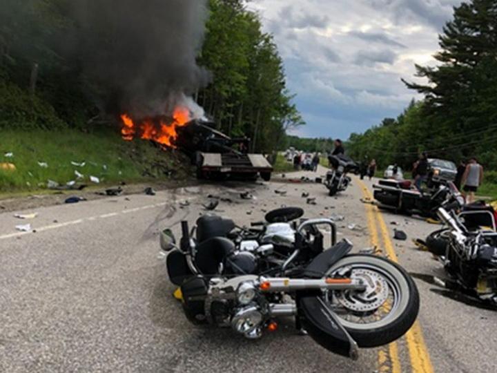 В США семь человек погибли в крупном ДТП с мотоциклами