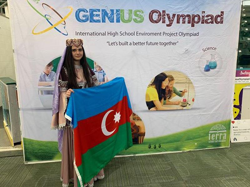 15 yaşlı azərbaycanlı qız ABŞ-da qızıl medal qazandı
