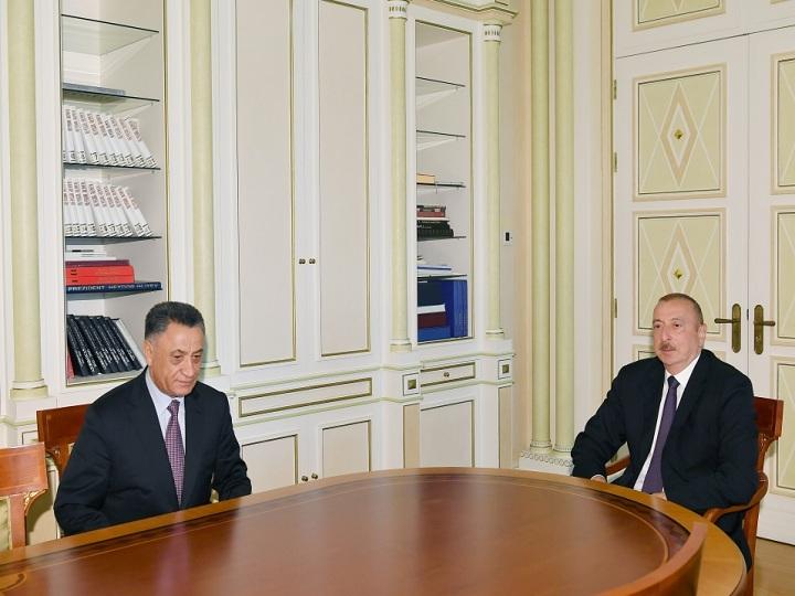 Prezident İlham Əliyev Ramil Usubovu qəbul edib - FOTO