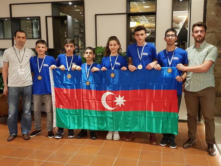 Очередной успех азербайджанских учеников на международной олимпиаде – ФОТО