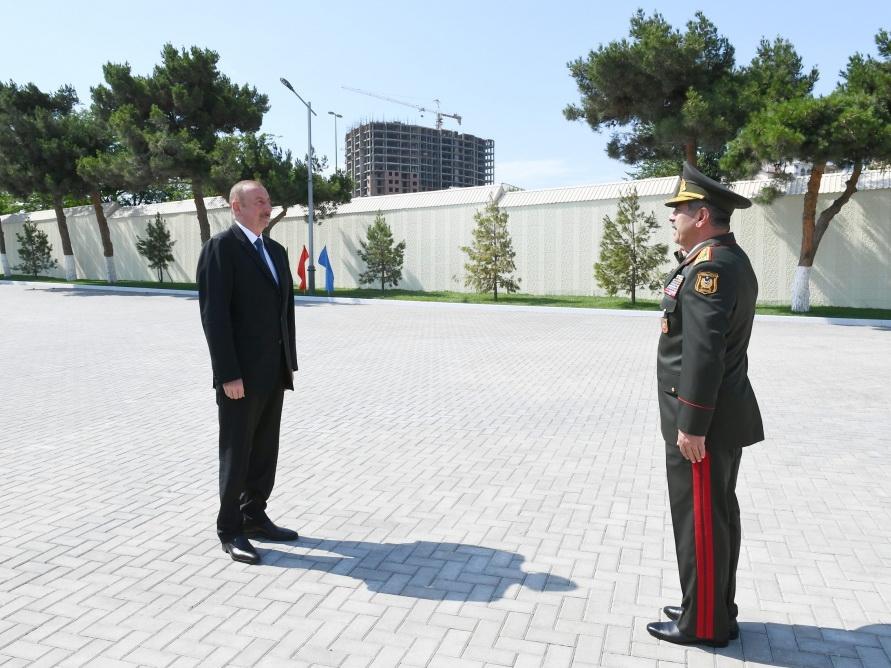 Президент Ильхам Алиев ознакомился с условиями, созданными после реконструкции в Военном лицее имени Джамшида Нахчыванского - ФОТО