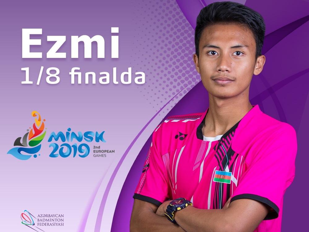 Азербайджанский бадминтонист в 1/8 финала Евроигр