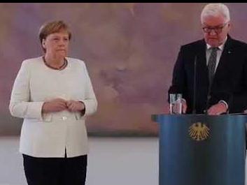 Ангела Меркель снова задрожала на президентской встрече - ВИДЕО