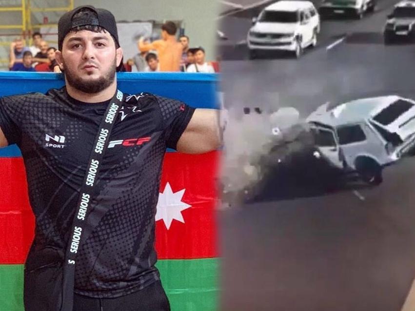 Новые кадры ДТП в Баку, в котором погиб чемпион мира - ВИДЕО - ФОТО