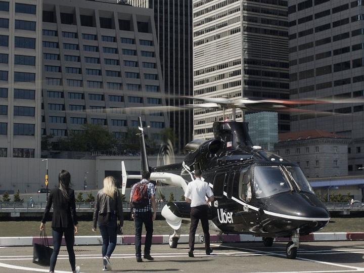 """""""Uber"""" helikopter-taksi servisini istifadəyə verib"""