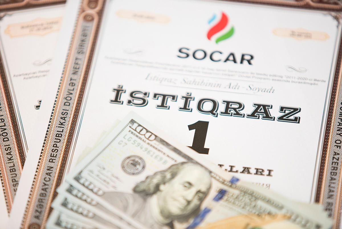SOCAR istiqrazlarının sahibləri 13.75 milyon dollar qazanacaq