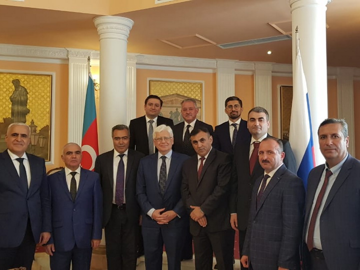 Главы азербайджанских СМИ поделились с послом России впечатлениями о визите в Москву - ФОТО