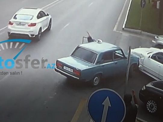 «Под чужое похмелье»: Курьезное ДТП в Баку – ВИДЕО