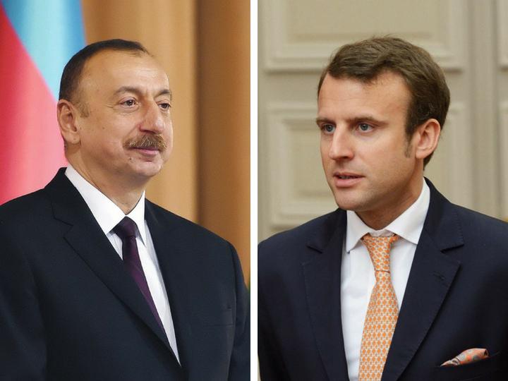 Президент Азербайджана поздравил президента Франции