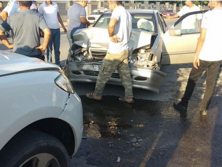 В Азербайджане произошла цепная авария- ФОТО