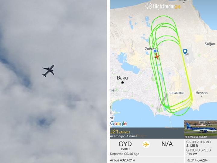 AZAL прокомментировал продолжительный полет своего лайнера над Баку - ФОТО