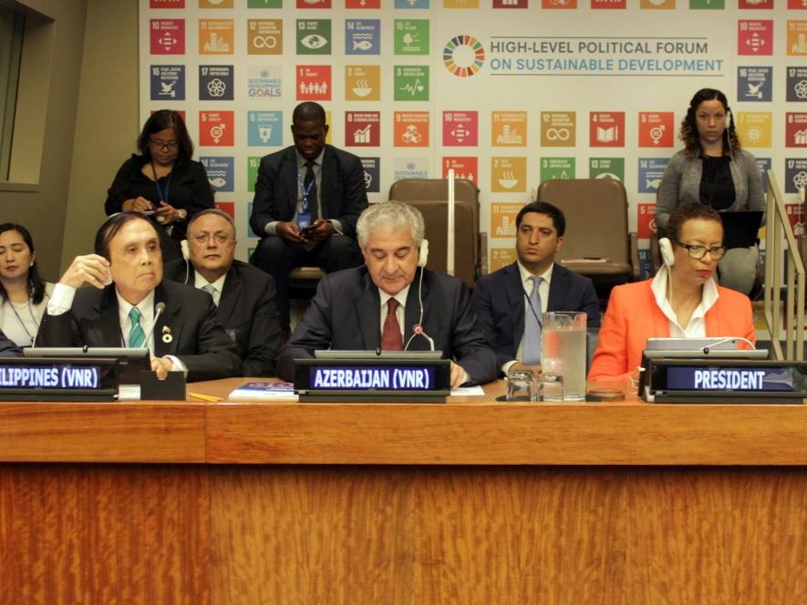 Азербайджан во второй раз представил Добровольный национальный отчет в Политический форум высокого уровня ООН