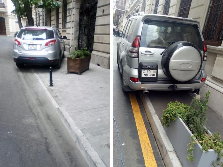 «Радикально»: Тротуары в центре Баку стали огораживать столбиками – ФОТОФАКТ