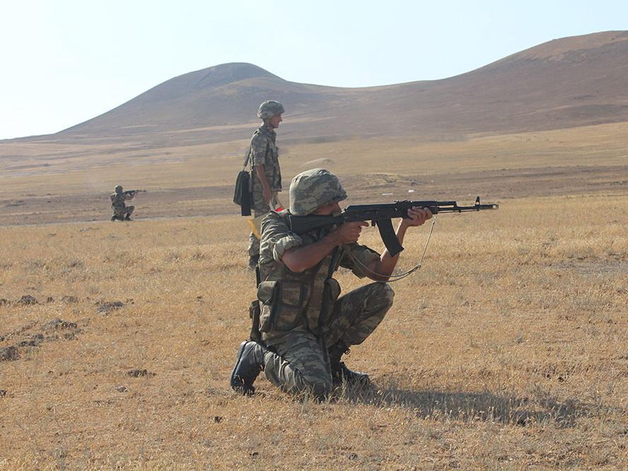 В воинском объединении азербайджанской армии проведены учебно-методические сборы - ФОТО