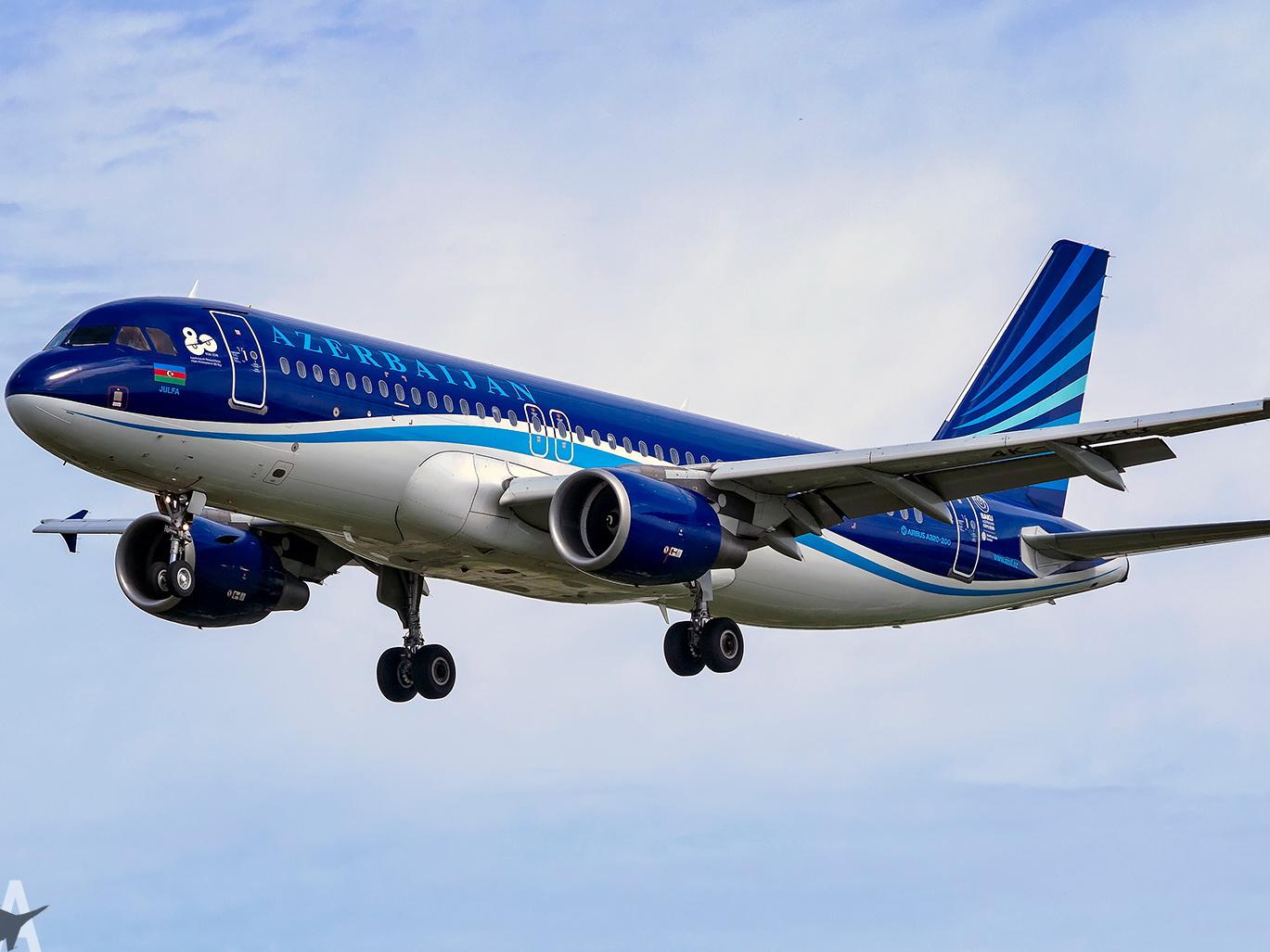 В самолет AZAL врезалась птица