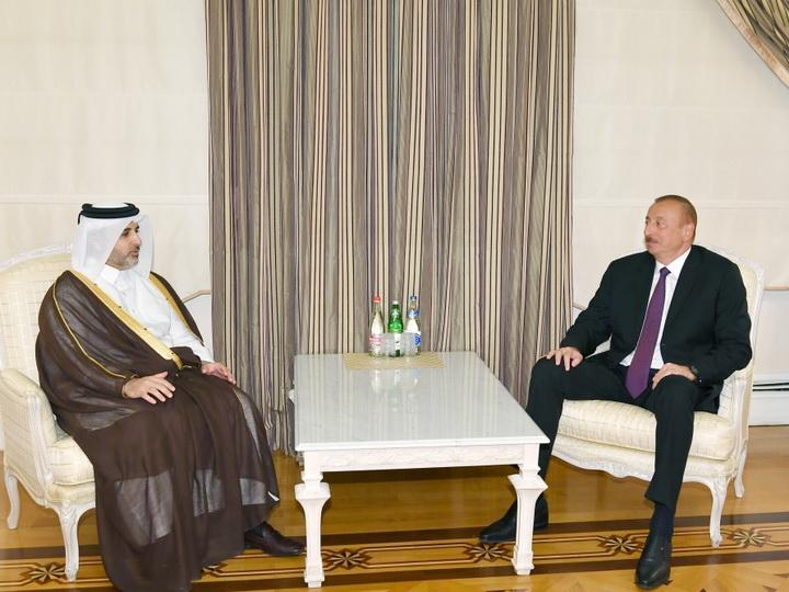 Президент Ильхам Алиев принял министра муниципалитетов и окружающей среды Катара - ФОТО