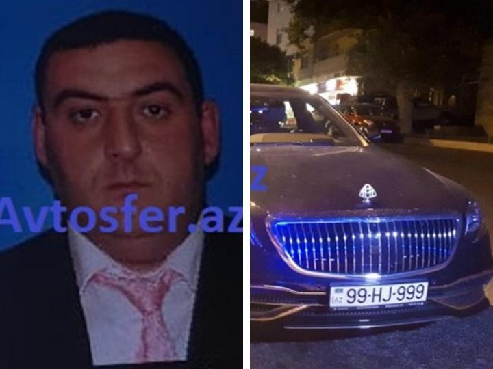«99-999»: В Баку пьяный водитель Maybach стоимостью полмиллиона предложил инспектору взятку в 20 манатов - ФОТО
