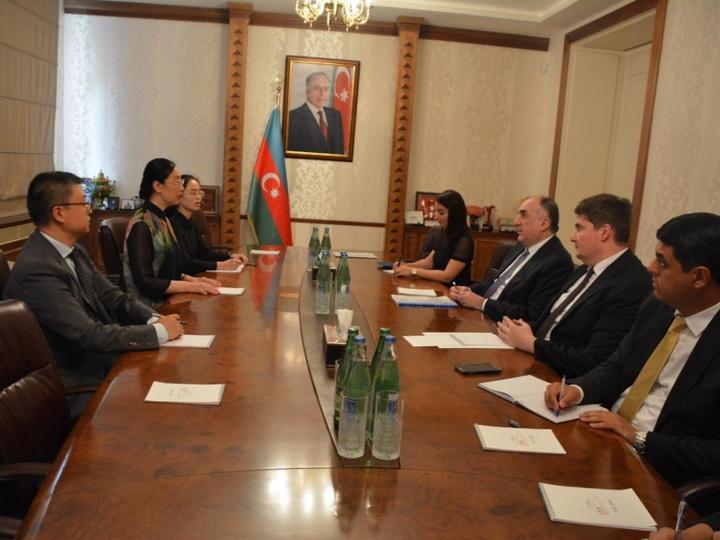 Министр иностранных дел Эльмар Мамедъяров встретился с новым послом Китая в нашей стране - ФОТО