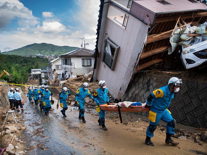 В Японии объявили наивысший уровень опасности из-за ливней