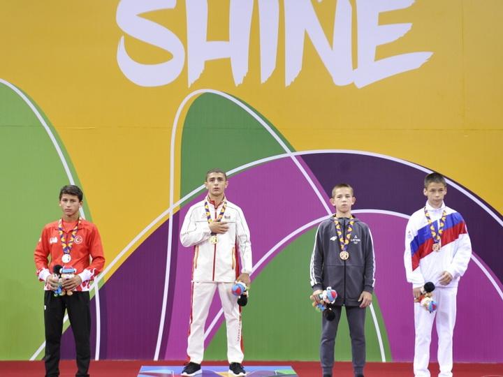 «EYOF Баку 2019»: Борец Гурбан Гурбанов завоевал третью золотую медаль для Азербайджана - ФОТО