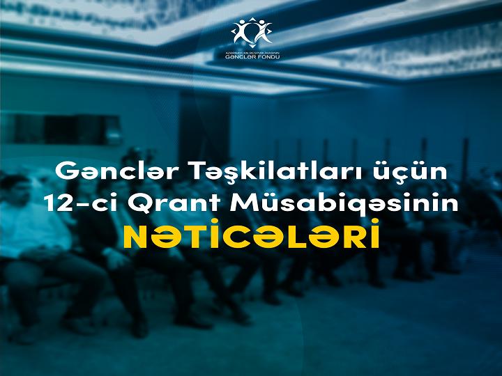 Gənclər Fondu 12-ci qrant müsabiqəsinin nəticələrini elan edir