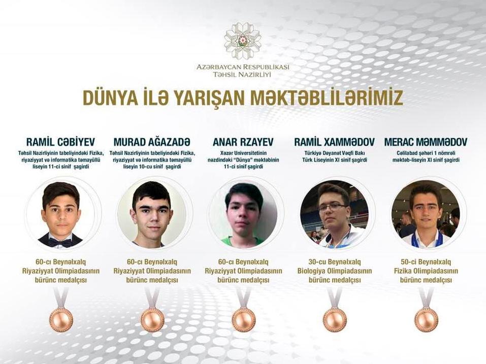 «Медалисты»: Об успехах  наших школьников на мировых соревнованиях