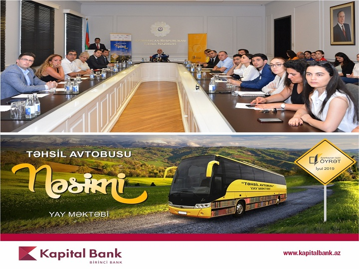 """Kapital Bank ənənəvi """"Təhsil avtobusu"""" layihəsinin rəsmi tərəfdaşıdır"""