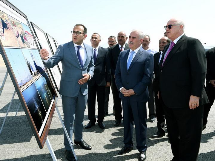 Васиф Талыбов и Джахангир Аскеров ознакомились с ходом строительства взлетно-посадочной полосы в аэропорту Нахчывана - ФОТО