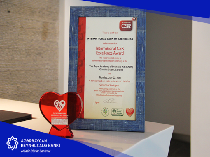 Azərbaycan Beynəlxalq Bankının sosial layihəsi beynəlxalq mükafat qazandı
