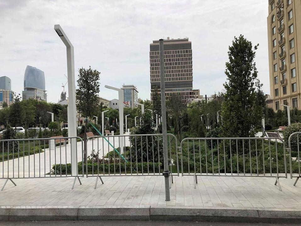 В центре Баку готов к открытию новый парк - ФОТО