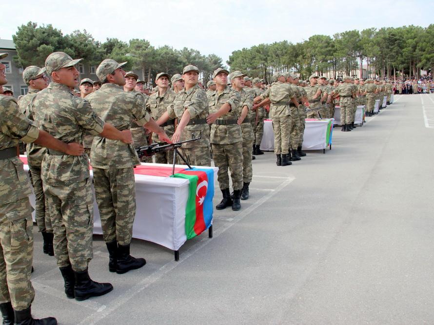 В учебных частях и подразделениях Азербайджанской Армии состоялась церемония принятия военной присяги – ФОТО