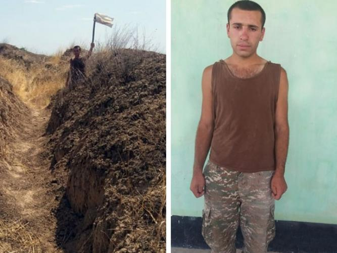 Сотрудники аппарата омбудсмена Азербайджана посетили армянского военнослужащего-дезертира