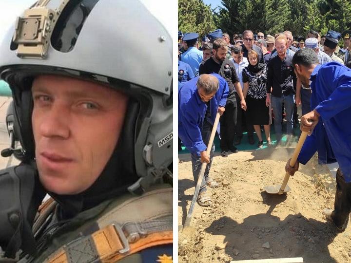 Пилот потерпевшего крушение МиГ-29 ВВС Азербайджана Рашад Атакишиев похоронен - ФОТО - ОБНОВЛЕНО
