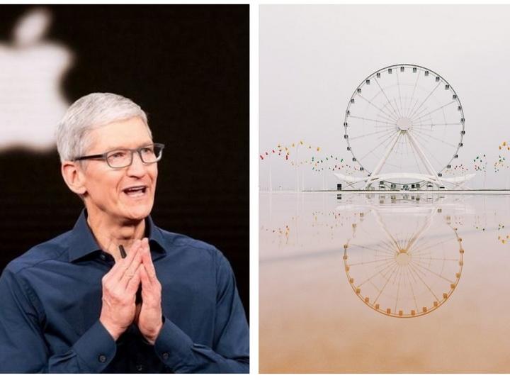 Глава Apple показал в Twitter невероятный кадр бакинского колеса обозрения, снятый на iPhone - ФОТО