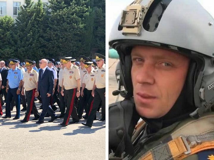 Официальные лица приняли участие в церемонии прощания с пилотом  потерпевшего крушение МиГ-29 – ФОТО